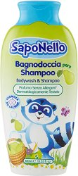 SapoNello Bodywash & Shampoo Pear - Детски душ гел и шампоан 2 в 1 с аромат на круша -