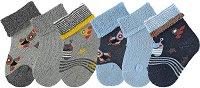 Бебешки хавлиени чорапи - Комплект от 6 чифта -