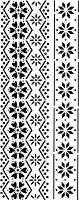 Шаблон - Флорален фриз - Размери 10 x 25 cm