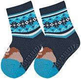 Детски термо-чорапи със силиконово стъпало -