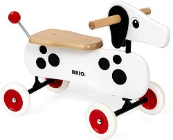 Дакел - Детска дървена играчка за яздене -