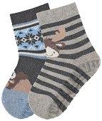 Детски чорапи със силиконово стъпало - Комплект от 2 чифта -
