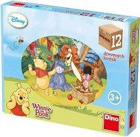 """Дървени кубчета - Детски комплект за игра от серията """"Мечо Пух"""" - играчка"""