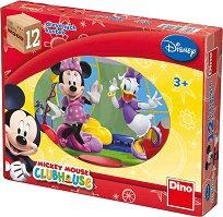 """Дървени кубчета - Детски комплект за игра от серията """"Мики Маус"""" - раница"""