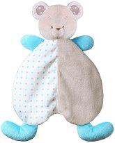 Мечето Тони - Бебешка играчка за гушкане с дрънкалка -