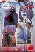 Замръзналото кралство 2 - Комплект от 4 пъзела - душ гел