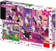 """Мини и Дейзи - Комплект от 3 пъзела от серията """"Мики Маус"""" - продукт"""