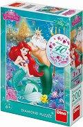 """Малката русалка - Пъзел с 40 блестящи камъчета от серията """"Принцесите на Дисни"""" - пъзел"""