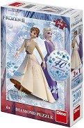 """Елза и Анна - Пъзел с 40 блестящи камъчета от серията """"Замръзналото кралство"""" - душ гел"""