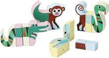 Магнитни животни - Дървени образователни играчки -