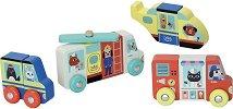 Магнитни превозни средства - Дървени образователни играчки -