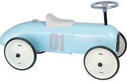 Метална ретро количка - Винтидж - Детска играчка за яздене -