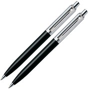 Химикалка и автоматичен молив - Chrome & Black