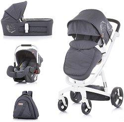 Бебешка количка 3 в 1 - Electra 2021 - С 4 колела -