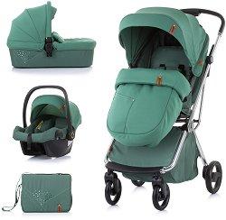 Бебешка количка 3 в 1 - Piruet - С 4 колела -