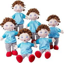 """Кукли с емоции - Комплект от 6 броя за куклен театър : От серията """"Haba: Education"""" -"""