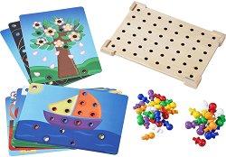 """Дървена мозайка - Детски образователен комплект от серията """"Haba: Education"""" -"""