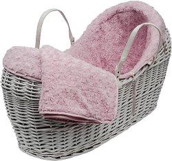 Плетен кош за новородено -