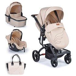 Бебешка количка 3 в 1 - Ellada - С 4 колела -