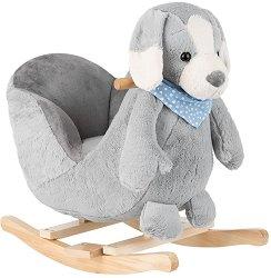 Детска дървена люлка - Кученце -