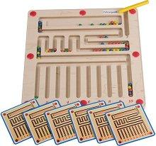 """Магнитен лабиринт - 10 в 1 - Детска логическа игра от серията """"Haba: Education"""" -"""