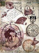 Декупажна хартия - Полета на времето - Формат А4