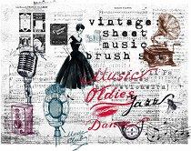 Декупажна хартия - Ретро муизика