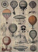 Декупажна хартия - Балони