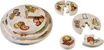 """Хранителна пирамида - Дървен образователен пъзел от серията """"Haba: Education"""" - пъзел"""