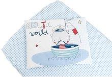 Бебешки спален комплект от 2 части - Nautic - 100% ранфорс за матраци с размери 60 x 120 cm -