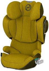 """Детско столче за кола - Solution Z I-Fix Plus: Mustard Yellow - За """"Isofix"""" система и деца от 15 до 36 kg -"""
