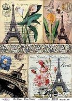 Декупажна хартия - Айфеловата кула