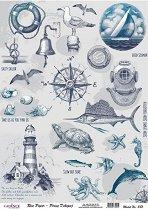 Декупажна хартия - Спомени от морето
