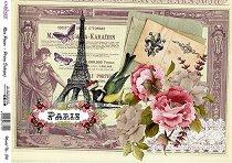 Декупажна хартия - Парижки пейзаж - Формат А4