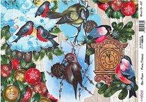 Декупажна хартия - Коледно гнездо - Формат А4
