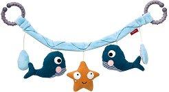 Морски обитатели - Мека играчка за бебешка количка -