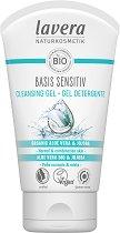 "Lavera Basis Sensitiv Cleansing Gel - Почистващ гел за лице с био алое вера и жожоба от серията ""Basis Sensitiv"" - крем"