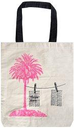 Текстилна чанта за книги - Палма -