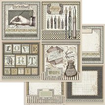 Хартия за скрапбукинг - Писалище - Размери 30.5 x 30.5 cm
