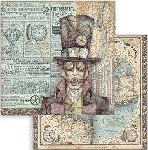 Хартия за скрапбукинг - Откривател - Размери 30.5 x 30.5 cm