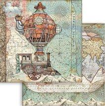 Хартия за скрапбукинг - Автентични изобретения - Размери 30.5 x 30.5 cm