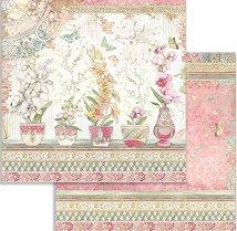 Хартия за скрапбукинг - Вази с цветя