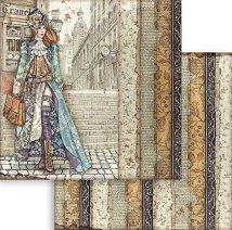 Хартия за скрапбукинг - Антична дама