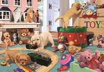 Палави кученца и котенца - пъзел