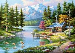Къща край езерото - пъзел
