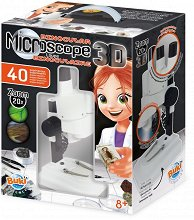 """Микроскоп с 40 експеримента - Образователен комплект от серията """"Научни експерименти""""  -"""