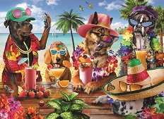 Кучета на плажа - пъзел