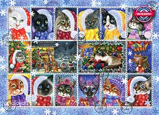 Коледни котки - пъзел