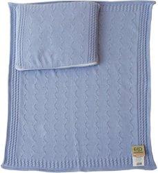 Комплект подложка и възглавничка за бебешка количка - 100% памук -