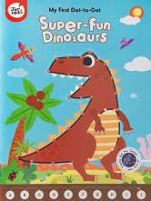 Книжка за рисуване точка по точка: Динозаври - творчески комплект